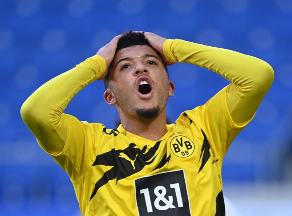 Jadon Sancho isn't in 'top shape' as Borussia Dortmund admit concern over  England forward's form   The Independent