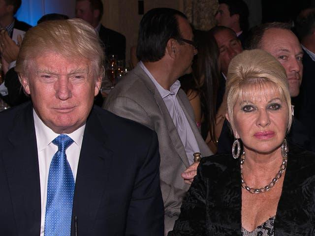 Donald Trump, Ivana Trump, Eric Trump and Lara Yunaska attend The Eric Trump 8th Annual Golf Tournament  at Trump National Golf Club Westchester on 15 September2014