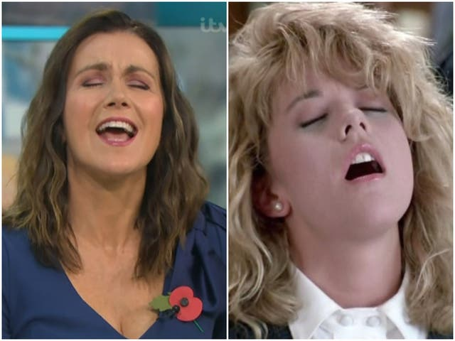 Susanna Reid on GMB and Meg Ryan in When Harry Met Sally