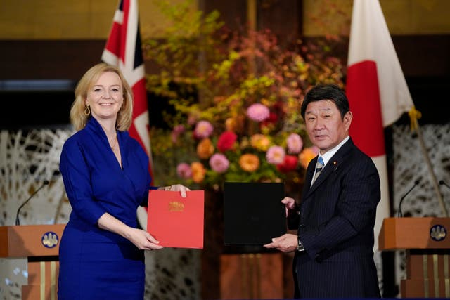 <p>Liz Truss hailed the Japan agreement for its 'cutting-edge digital and data' clauses</p>