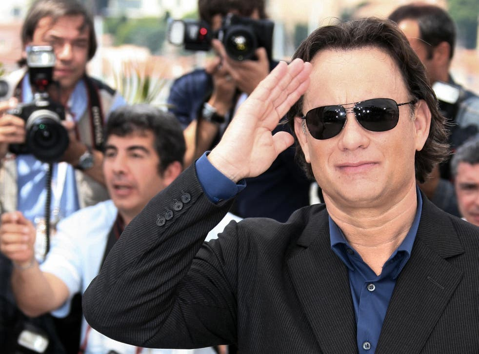 Tom Hanks promoting The Da Vinci Code at the 59th edition of the Cannes Film Festival in 2006