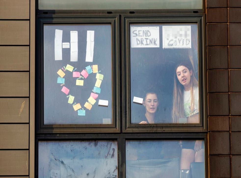 <p>Students trapped in their rooms by Covid outbreaks&nbsp;</p>