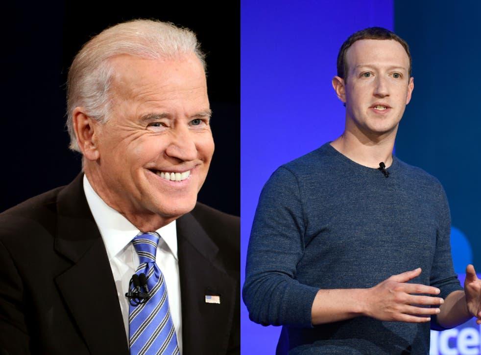 <p>Biden ha dejado en claro su animadversión hacia Mark Zuckerberg y Facebook</p>