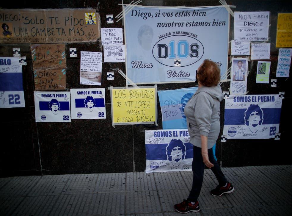 <p>La hospitalización de Maradona prendió las alarmas entre sus aficionados</p>