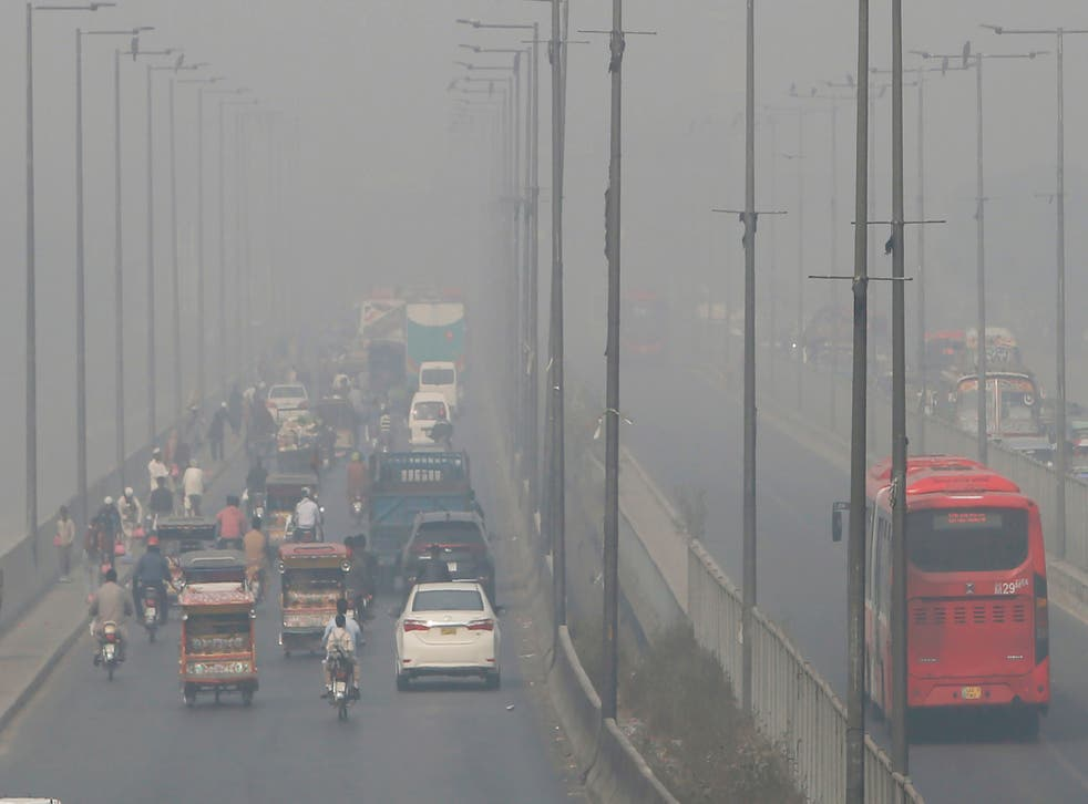 APTOPIX Pakistan Air Pollution