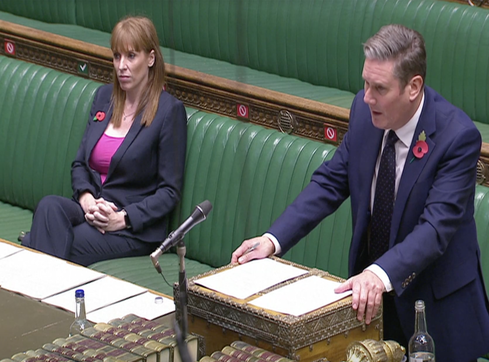<p>Starmer asks the questions in parliament</p>
