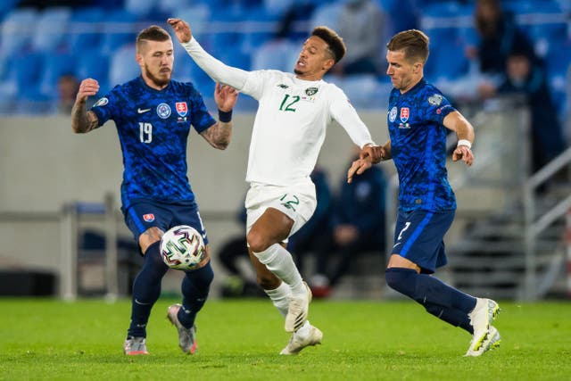 Callum Robinson in action for Ireland against Slovakia