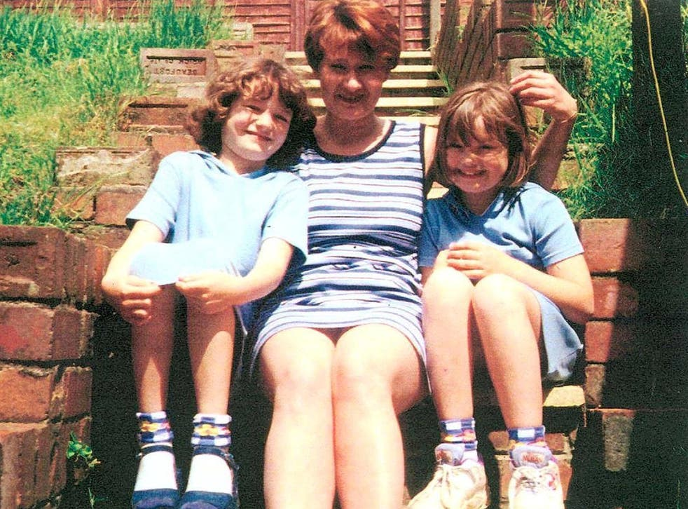 Mandy Power with her children Katie and Emily