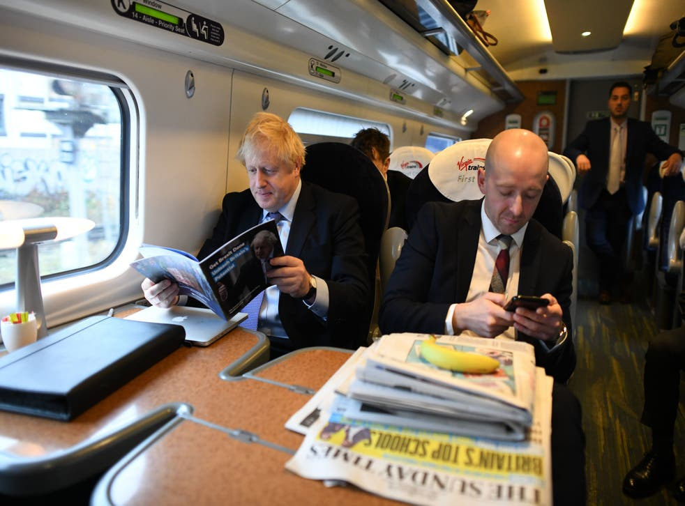 <p>Boris Johnson with his former director of communications Lee Cain</p>