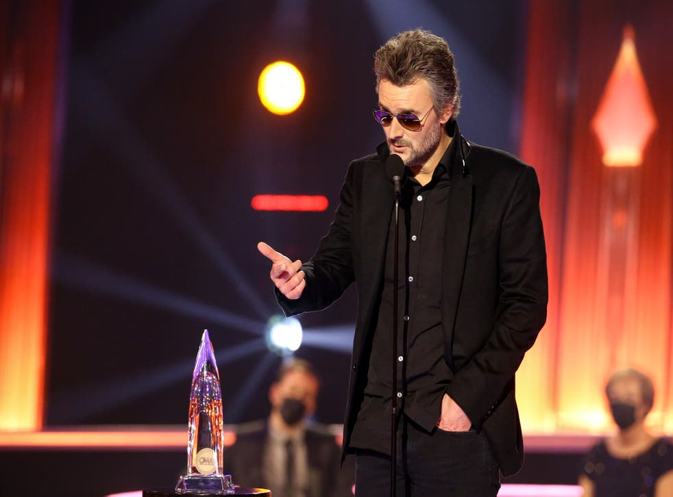 Eric Church collects his CMA during a live ceremony in Nashvill