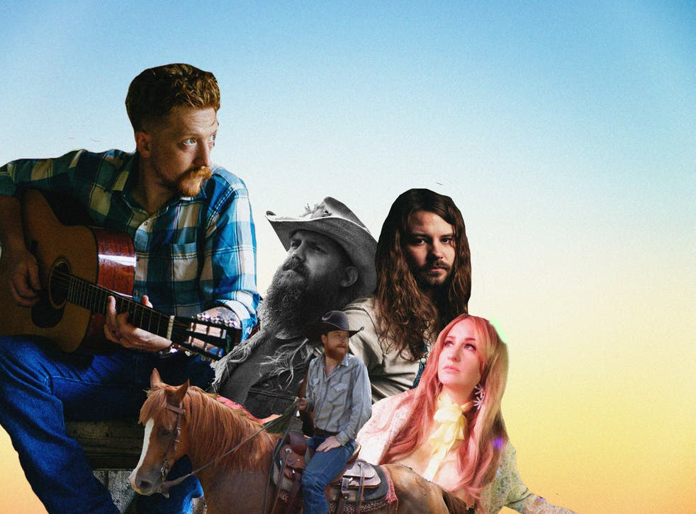 <p>Clockwise from the left: Tyler Childers, Chris Stapleton, Brent Cobb, Margo Price and Colter Wall</p>