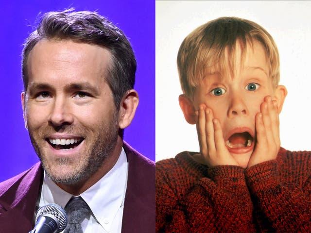 """<p>Ryan Reynolds y la estrella de """"Home Alone"""" Macaulay Culkin</p>"""