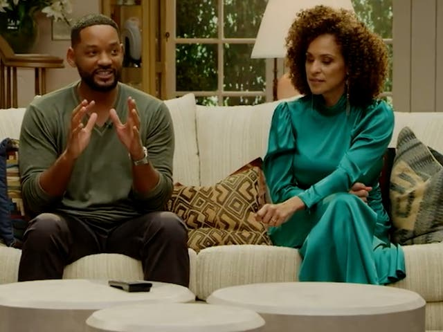 Will Smith and Karyn Parsons in the Fresh Prince of Bel-Air reunion