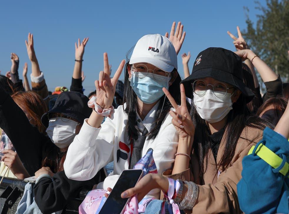 <p>Music fans wear masks at festival in Beijing</p>