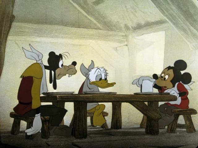 Mickey Mouse, Donald Duck and Pluto in 1947 from 'Fun and Fancy Free'