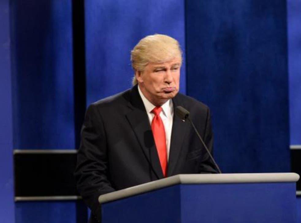 <p>Alec Baldwin as Donald Trump on Saturday Night Live</p>