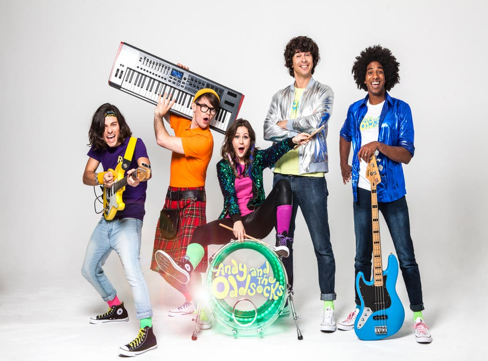 Andy Day (second from right) with his band, The Odd Socks