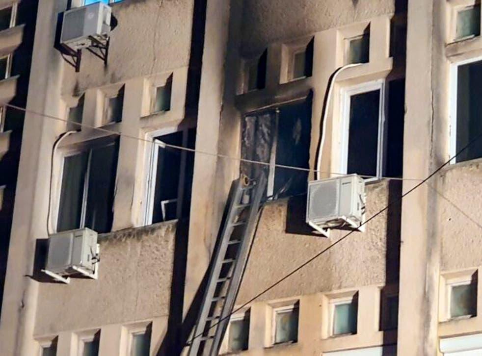 <p>Incendio en un hospital de Rumania.</p>