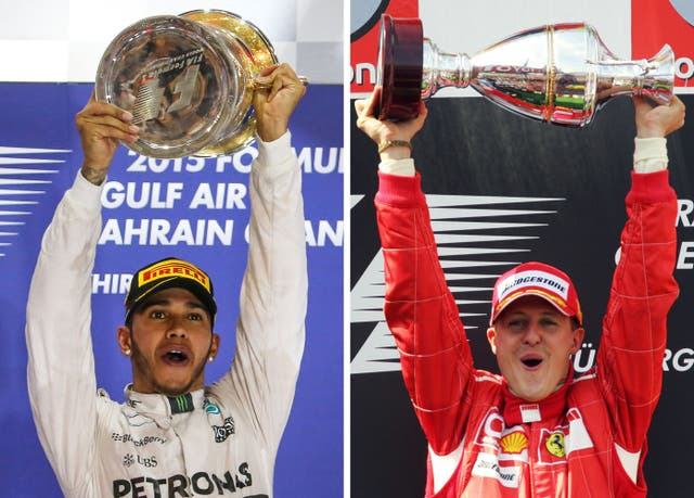 Lewis Hamilton equalled Michael Schumacher's record of seven world championships