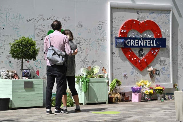 <p>People may their respects at a tribute to the victims of the Grenfell Tower fire.&nbsp;</p>