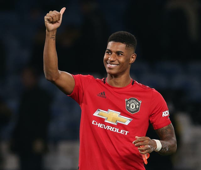 <p>Manchester United striker Marcus Rashford will help to distribute books to under-privileged children</p>