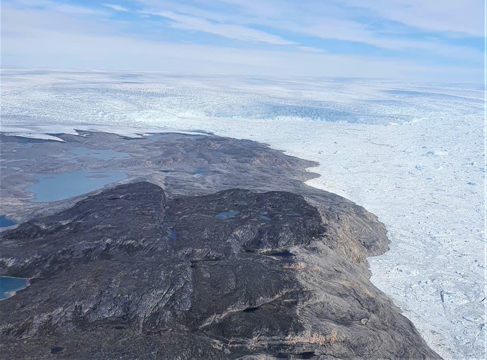 Photo of Jakobshavn Isbræ, one of Greenland's largest glaciers