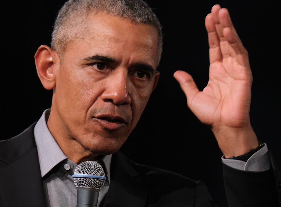 <p>Barack Obama aseguró que Donald Trump aceleró el problema de la desinformación</p>