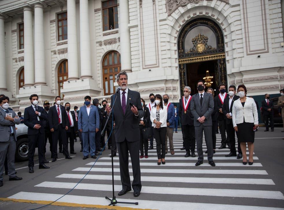 <p>Crisis Política del Perú.</p>