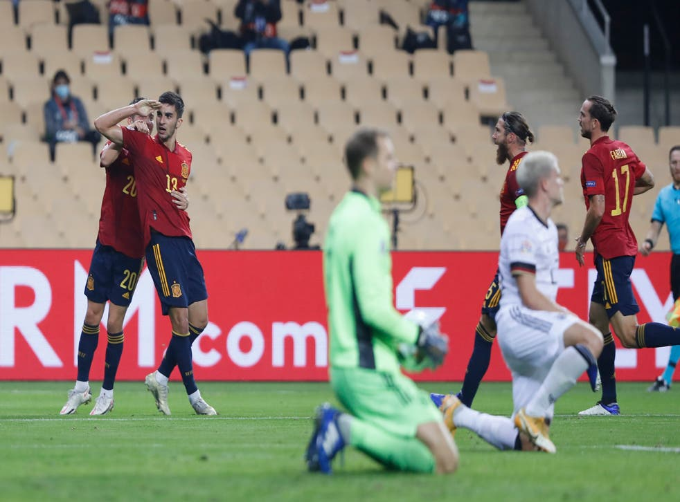 <p>España propinó la peor goleada en más de seis décadas a los germanos</p>
