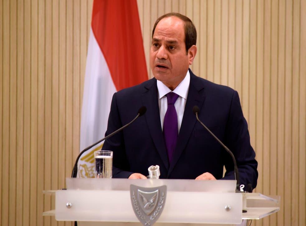 ¿Una nueva represión? El presidente egipcio Abdel Fattah al-Sisi (Foto de IAKOVOS HATZISTAVROU / POOL / AFP a través de Getty Images)