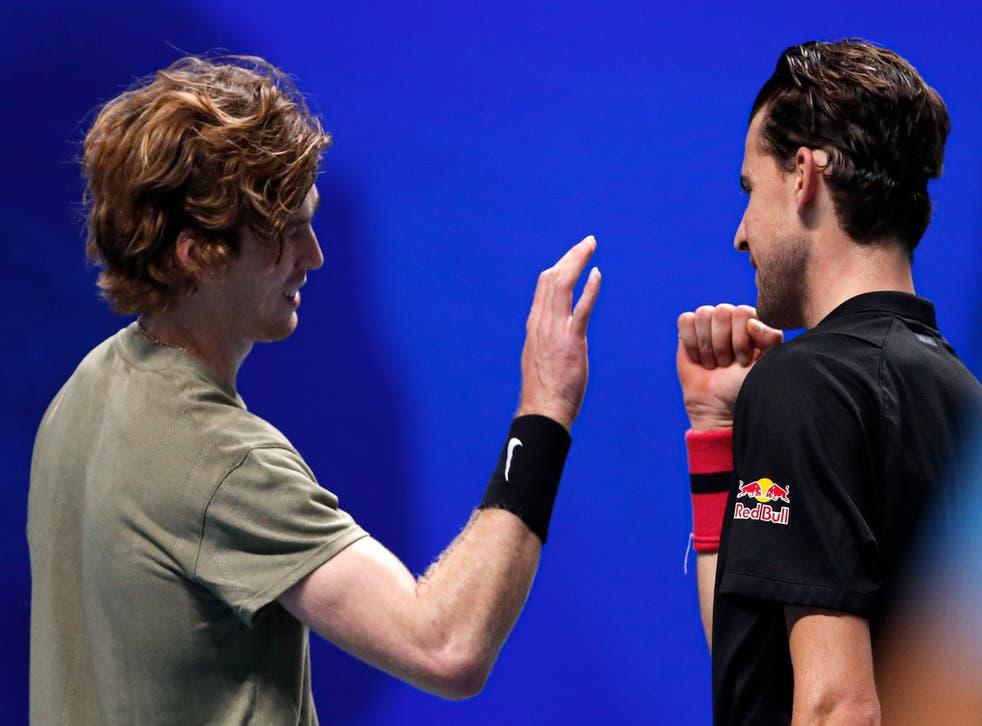 <p>Thiem tenía asegurado el primer lugar del grupo tras victorias previas ante Stefanos Tsitsipas y Rafael Nadal.</p>