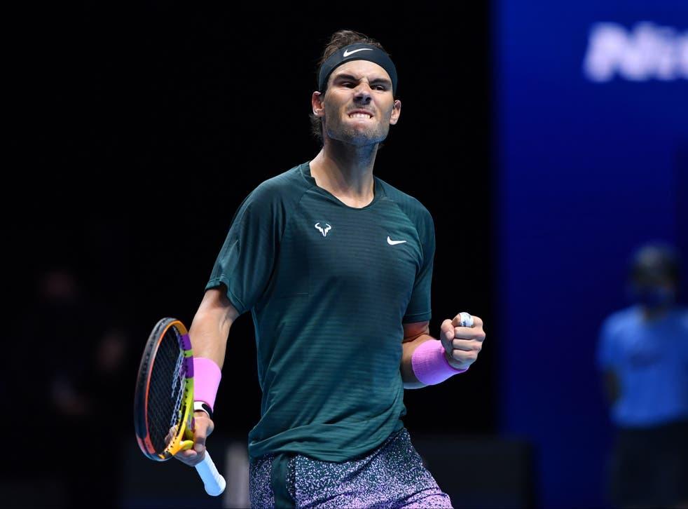 Rafael Nadal celebra la victoria sobre Daniil Medvedev