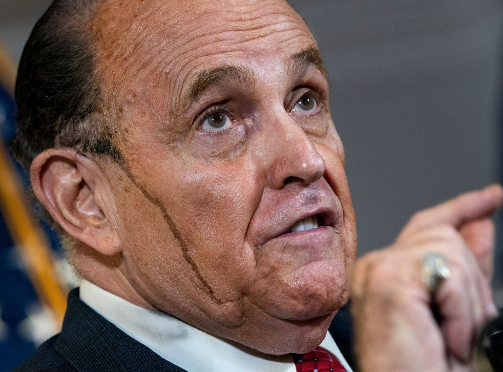Rudy Giuliani's hair malfunction is a lesson in vanity | The Independent
