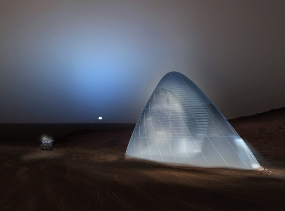 <p>Early Mars colonies will involve 'life in glass domes', according to SpaceX boss Elon Musk</p>