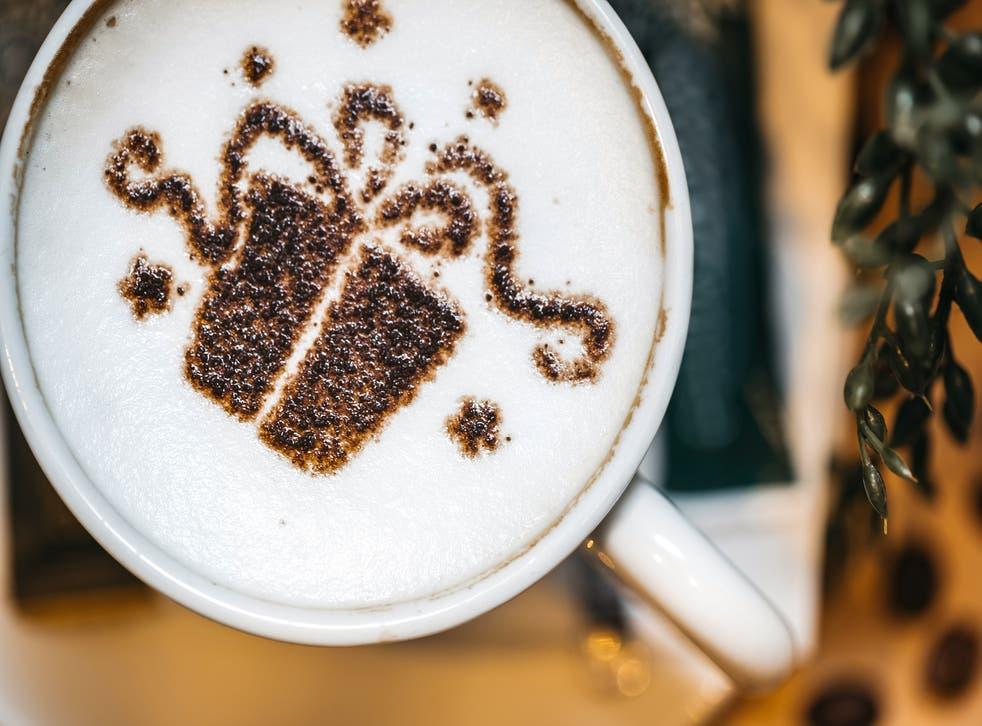 Holiday latte art