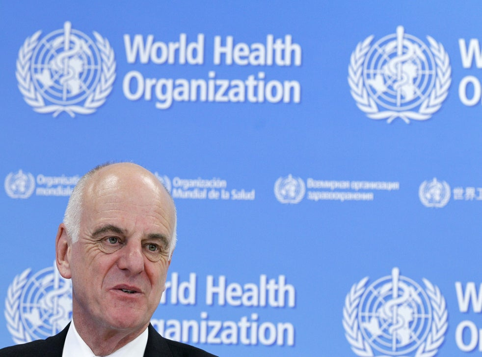 David Nabarro Nabarro addresses the media on World Health Organization (WHO)'s health emergency preparedness and response capacities in Geneva, Switzerland, 31 July 2015. At the time, Nabarro was the UN Secretary-General's Special Envoy for Ebola