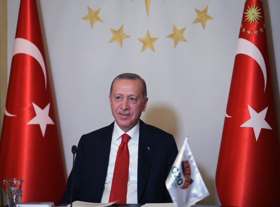 <p>El presidente turco Recep Tayyip Erdogan en Estambul el 21 de noviembre del 2020.&nbsp;</p>