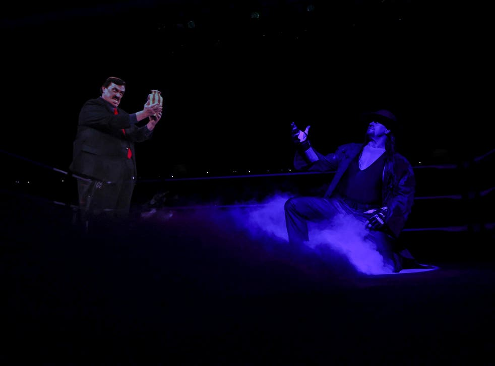 <p>A hologram of the late Paul Bearer was seen in the ring</p>