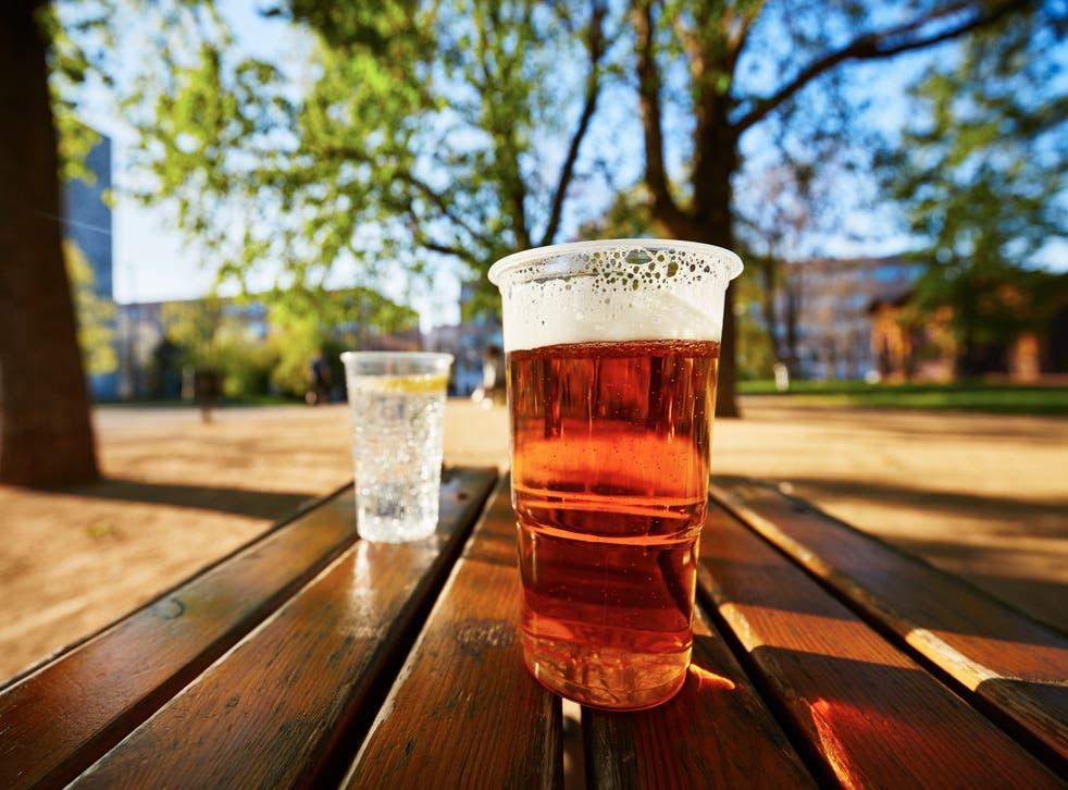 <p>A pint in a pub garden</p>