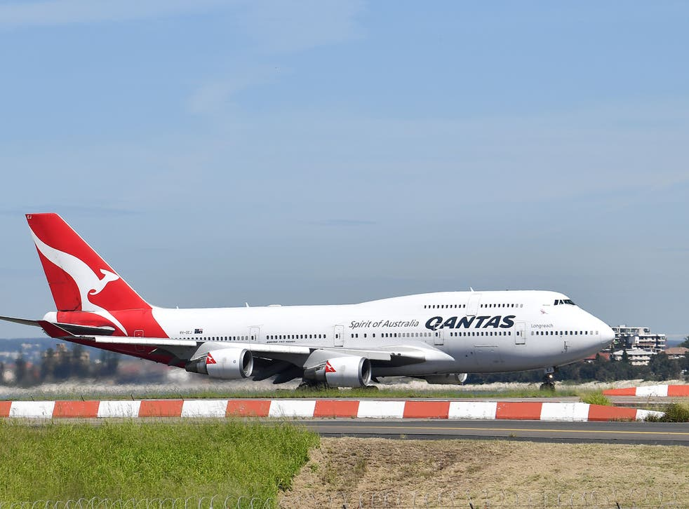 <p>Aerolínea Qantas.&nbsp;</p>