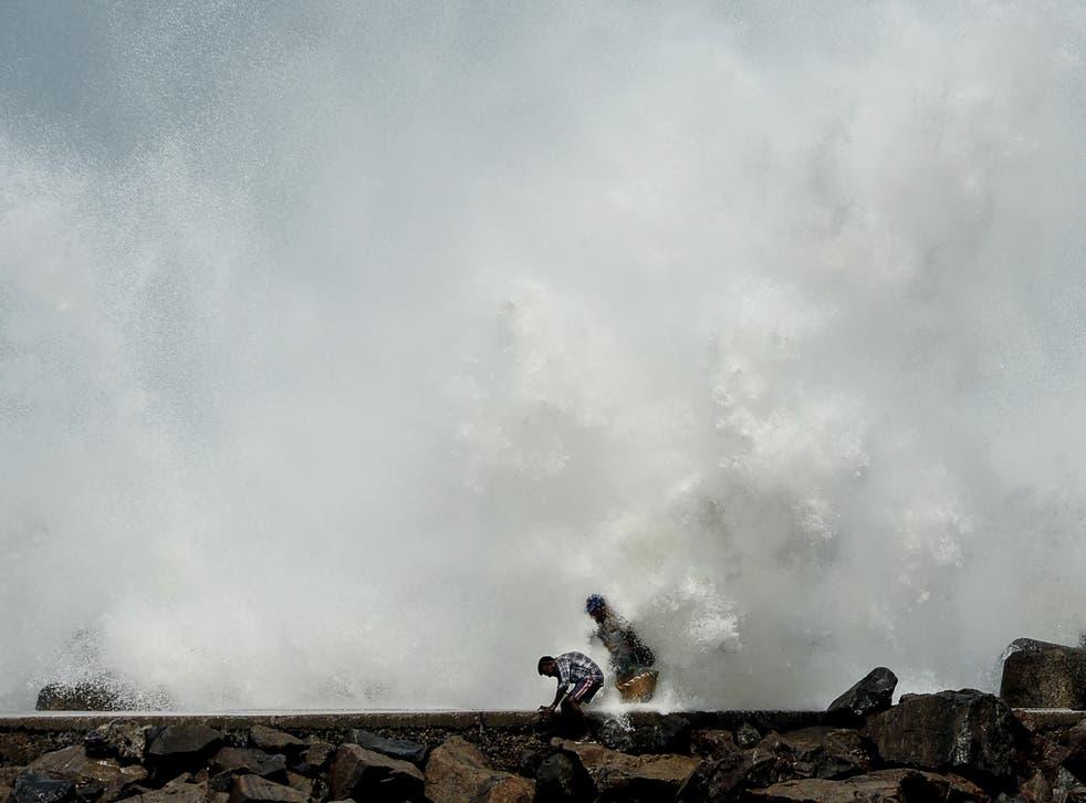 <p>Very Severe Cyclonic Storm Nivar hit India and Sri Lanka in November 2020</p>