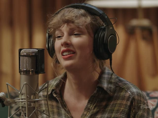 Taylor Swift as seen in the trailer for Folklore
