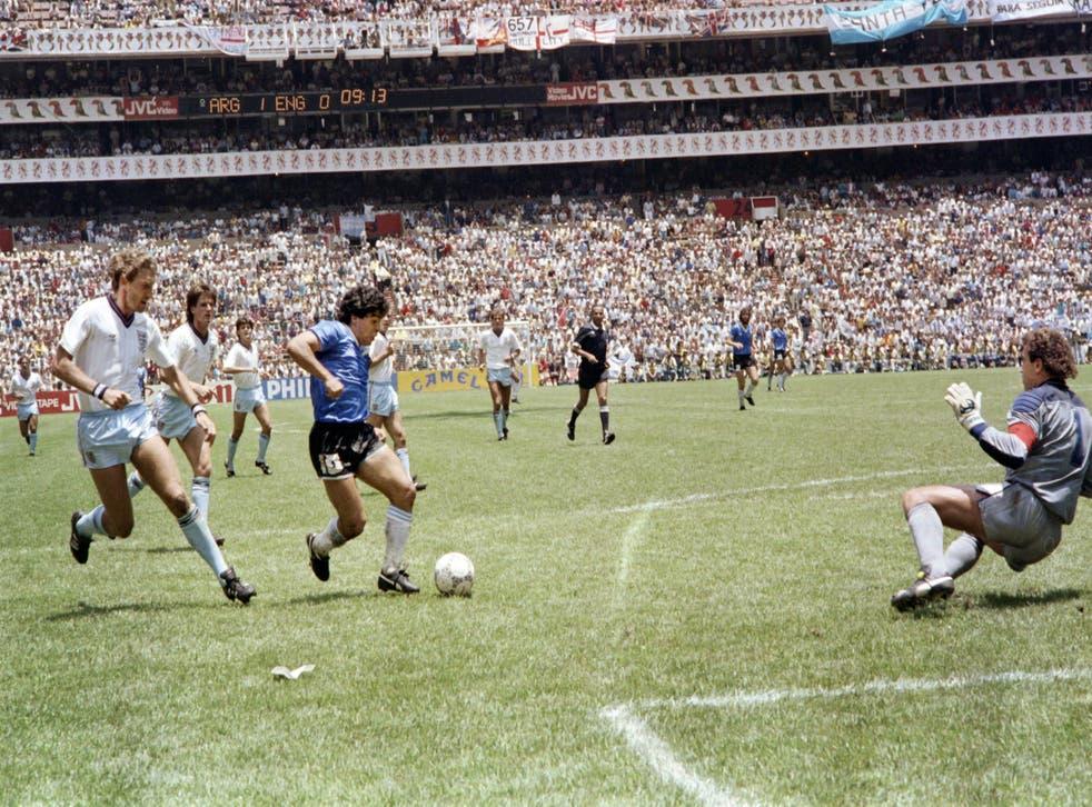 <p>Argentina v Inglaterra, 1986</p>
