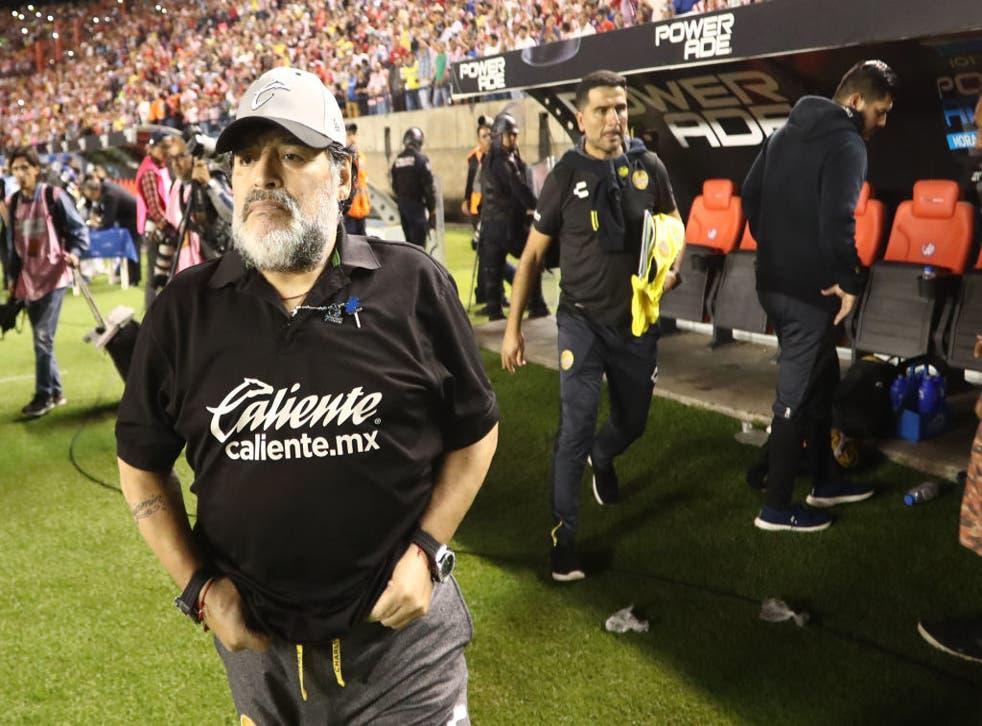 Con Dorados de Sinaloa, Maradona vivió grandes momentos pero no pudo coronar su gran actuación con algún título.