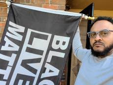 """La bandera de Black Lives Matter se vuelve un """"problema"""" en Florida"""