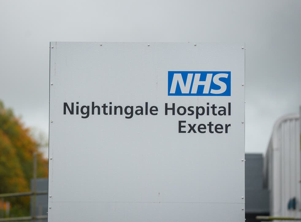 Exeter Nightingale Hospital will receive its first Covid-19 patients to help local hospital