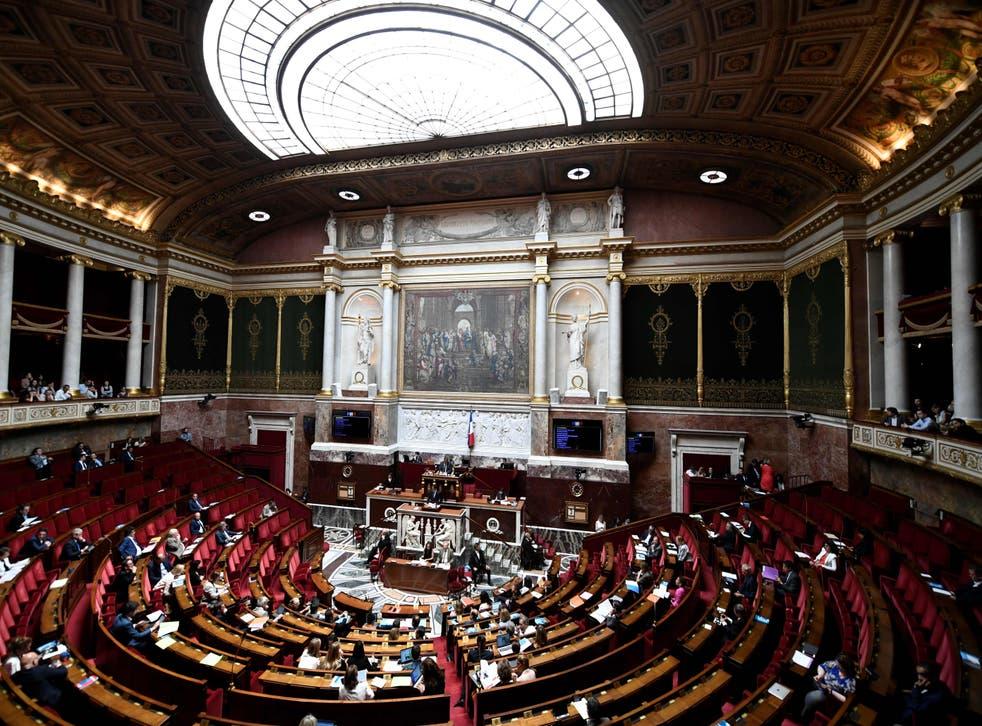 Vista general de una sesión de la Asamblea Nacional francesa en París el 3 de julio de 2019.