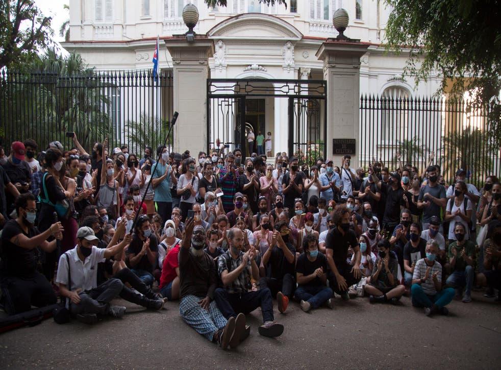 <p>Protesta en Cuba</p>