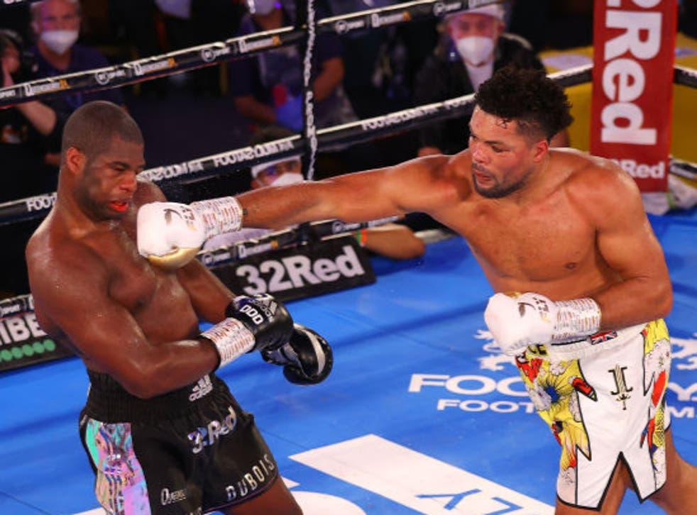 <p>Ambos boxeadores dieron una gran exhibición este sábado</p>