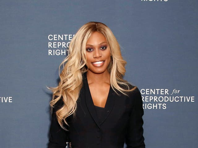 Laverne Cox at the Center for Reproductive Rights benefit in February, 2020